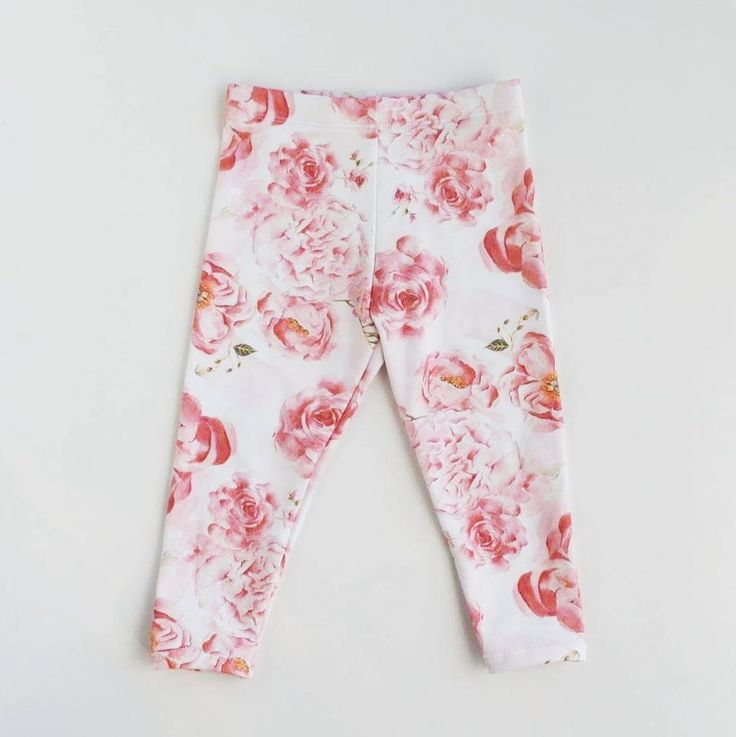 Organic Lacie's Roses Leggings - Lulu and Milly