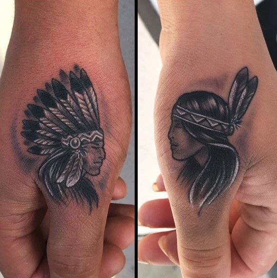 30 perfect matching his and hers tattoos native tattoos and tattoo. Black Bedroom Furniture Sets. Home Design Ideas