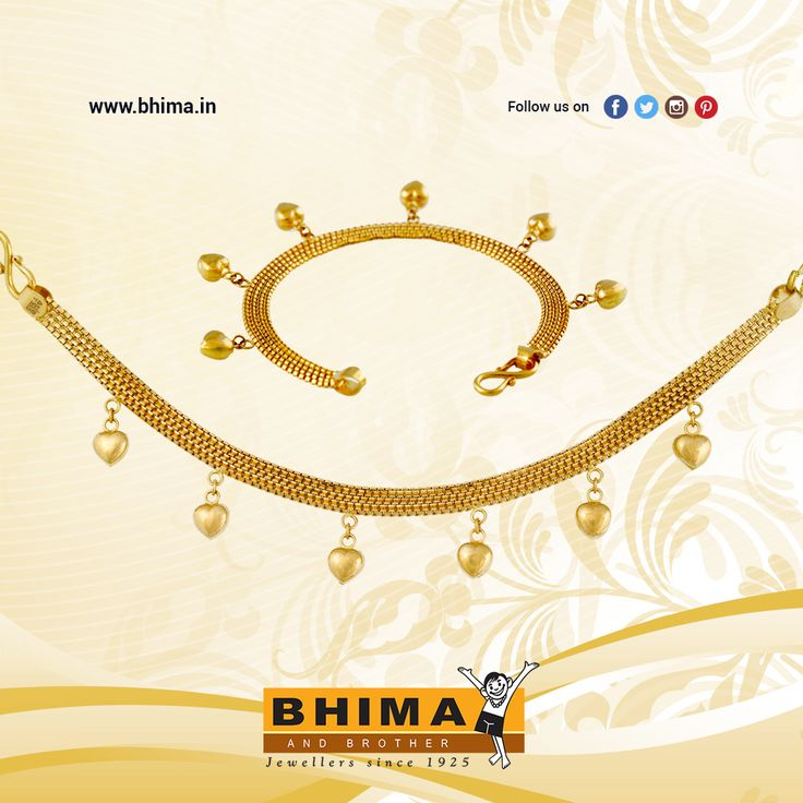 Gold #bracelet with #heart hangings !!!  https://www.bhima.in/1/bhima-gold-collections.html