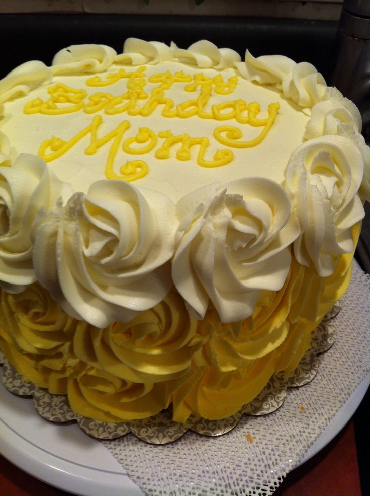 Ombre Yellow Rose Cake My Cakes Pinterest Cakes