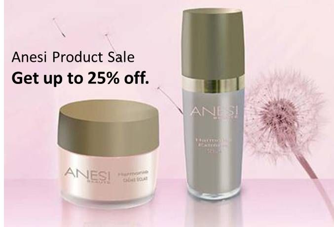 Anesi Product Sale: Get up to 25% off.