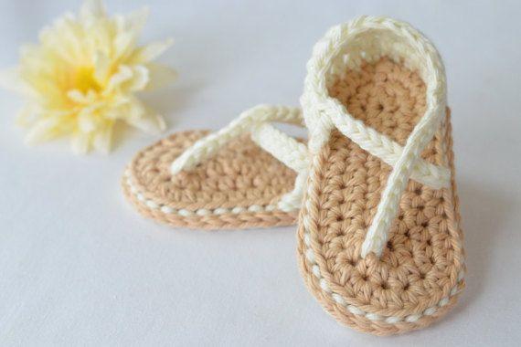 Baby girl crocheted sandals   https://www.etsy.com/listing/229863294/summery-crocheted-baby-sandals-baby-girl