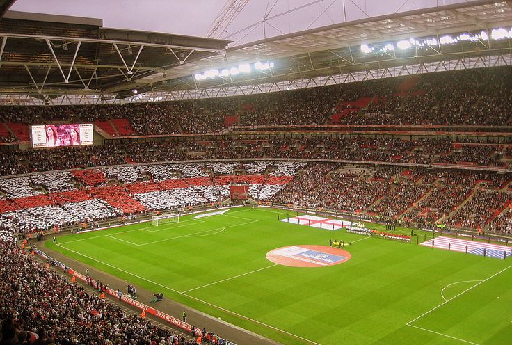 England's Wembley Stadium. It is one of the most expensive stadium ever built. home of some of the worlds most famous soccer matches.