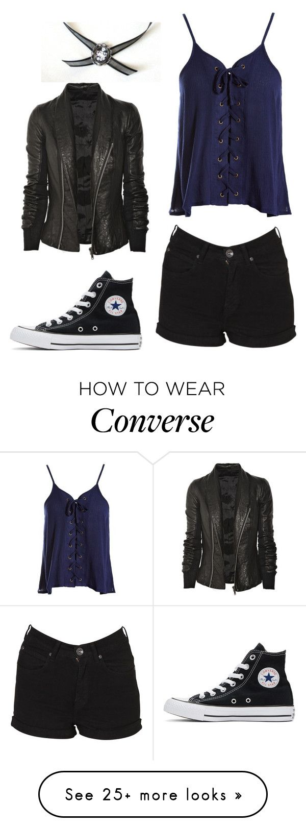 """Untitled #1743"" by laurenwolfchild on Polyvore featuring Dr. Denim, Sans Souci, Converse and Rick Owens"