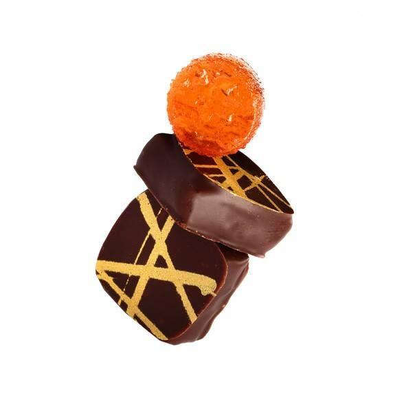 Bombón Coso Galán de Naranja Sanguina y Cointreau #AltaChocolatería