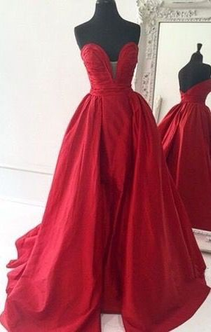 Noble Red Prom Dress,Long Prom Dress,Evening Dress,Formal Dress