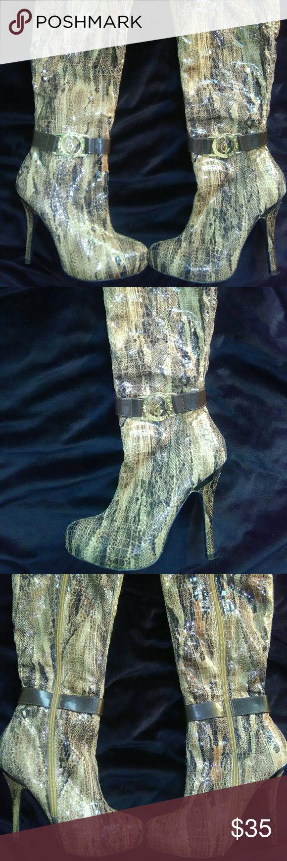 Selling this Baby Phat Snake Skin Heeled Boots on Poshmark! My username is: kiricloth. #shopmycloset #poshmark #fashion #shopping #style #forsale #Baby Phat #Shoes