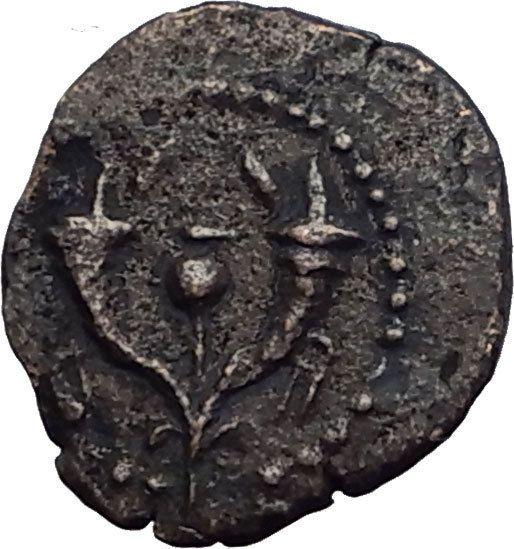 Jewish King ALEXANDER JANNAEUS Ancient Jerusalem WIDOW's MITE Bible Coin i62719