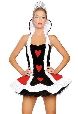 After the Rain Lingerie - y Short Queen of Hearts Dress Women's Halloween…