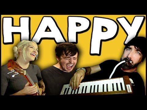 ▶ HAPPY - Walk off the Earth Ft. Parachute - YouTube