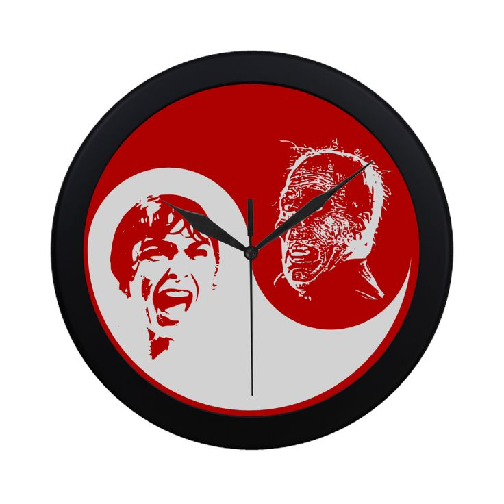 Yin Yang Horror Circular Plastic Wall clock @artsadd  @artsadd - Save 20% Off Discount Coupon Code: ARTSADD  Free Worldwide Shipping.#clocks #horror #halloween #yinyang #psycho #popart #scream #coolclocks #wallclocks #artsadd #ticktock #homedecor #hitchcock #horrorfanart #horrorfans