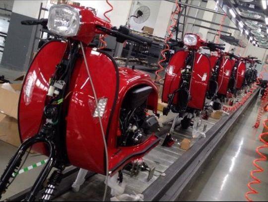 Scomadi production line.