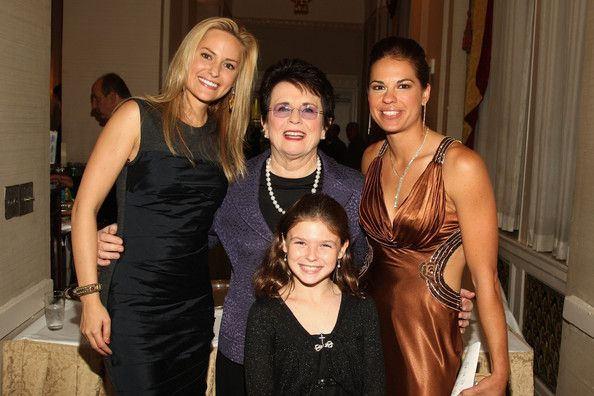 Jessica Mendoza Photos Photos - (L-R) Woman's Sports Foundation President Aimee Mullins, Tennis player Billie Jean King, and Softball player Jessica Mendoza and Danielle Stone (FRONT) attend the VIP reception at the 29th annual Salute to Women in Sports Awards presented by the Women's Sports Foundation at The Waldorf-Astoria Hotel on October 14, 2008 in New York City. - 29th Annual Women's Sports Foundation Awards Gala - VIP Reception