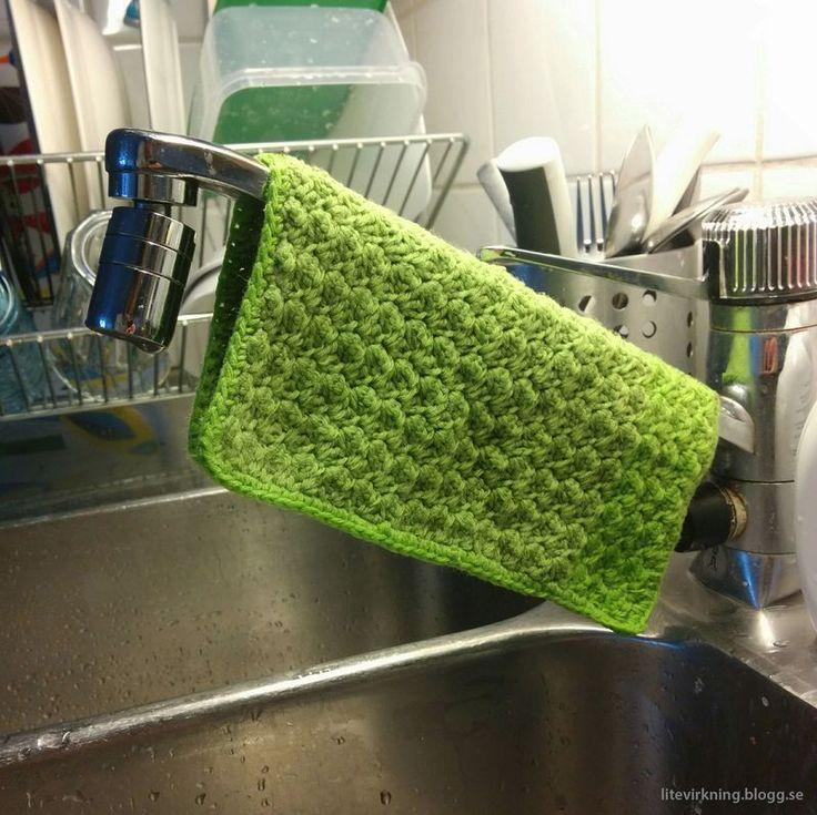LiteVirkning - SJ disktrasan. Virkad disktrasa av Tilda Bamboo. (crochet)