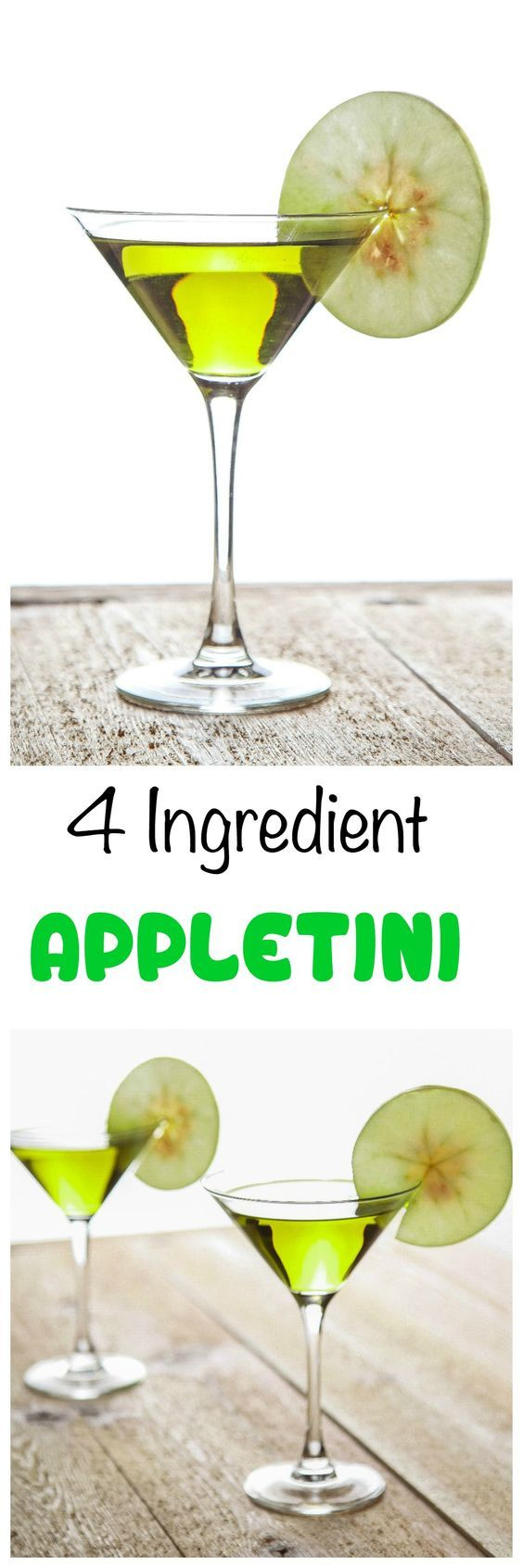 Appletini Recipe: Tantalize your taste buds with a crisp appletini. Only 3 ingredients and 2 minutes prep required!