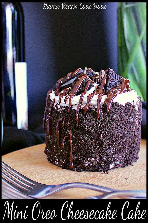 Mini Oreo Cheesecake Cake For Two Recipe Cake Pinterest