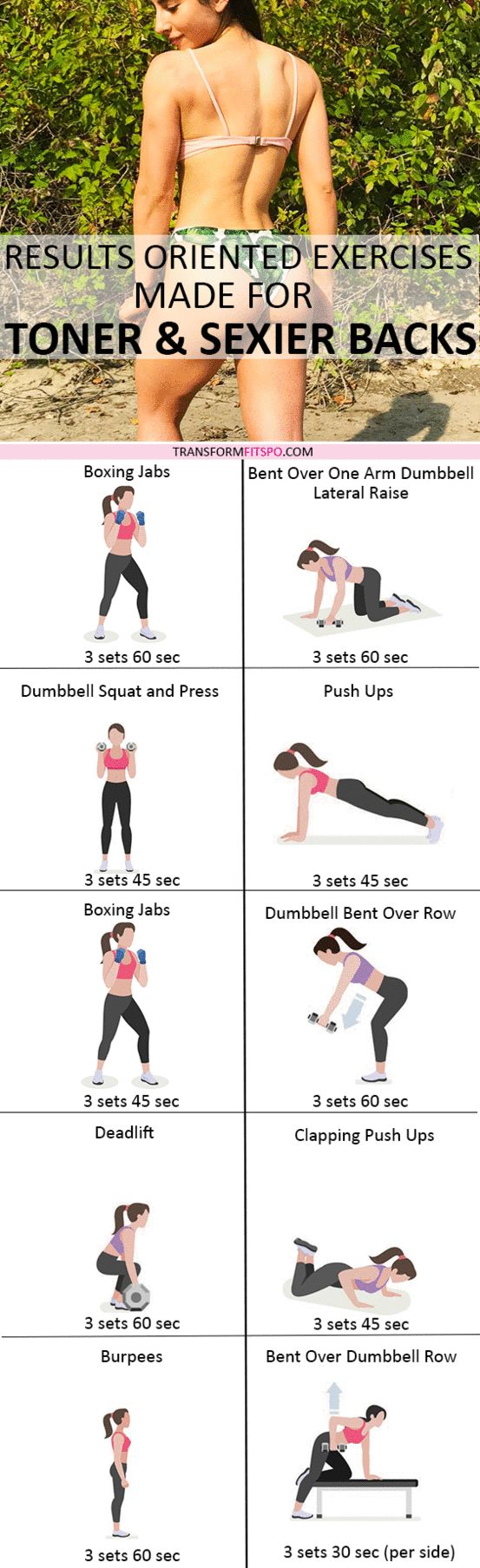 Repin and share if this workout gave you insane back fat blasting results! Read the post for all the exercise descriptions.