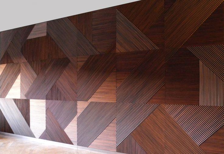 Wood textured wall
