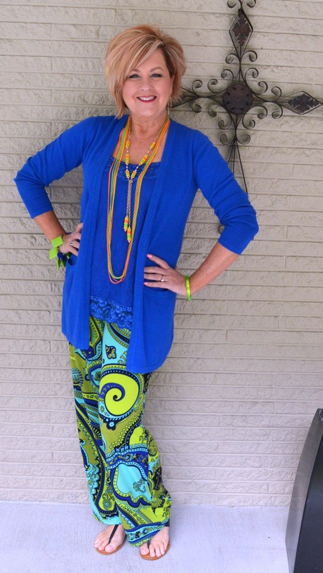 50 Is Not Old   Retro   1970's style   Palazzo Pants   Spring Outfit   Fashion over 40 for the everyday woman.