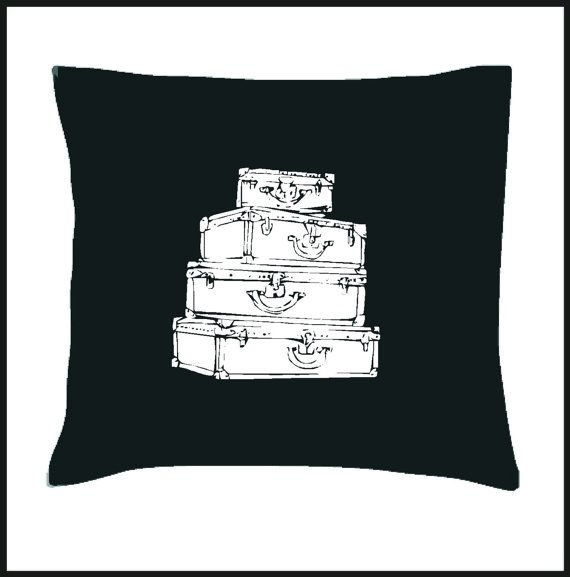 Vintage Suitcases Scatter Cushion Cover by Pokkki on Etsy,