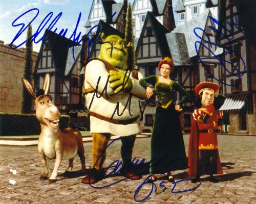 Shrek with Eddie Murphy & Cameron Diaz Cast Signed Autographed 8 X 10 RP Photo - Mint Condition @ niftywarehouse.com #NiftyWarehouse #Shrek #Movies #Movie