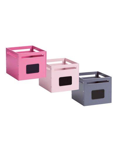 Lot de 2 bacs de rangement pour table langer gris - Boite de rangement pour table a langer ...