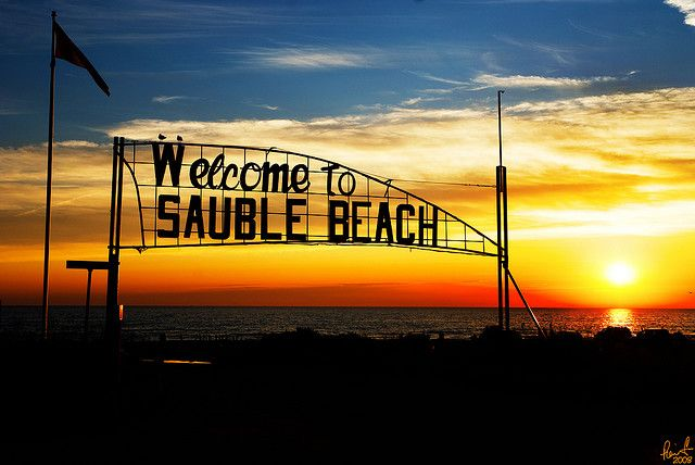Sauble Beach, Ontario. where I went for my birthday Camping trip it wasn't long enough