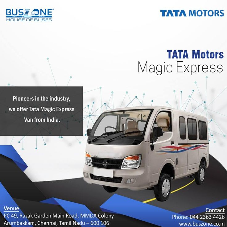 Discover the wonderful features of India's first public passenger vehicle on the super successful Ace platform. #tata #motors #magic #express #starbus #ultra #bus #chennai #arumbakkam #auto #Winger #Ambulance #public #transport #BS4  http://www.buszone.co.in/