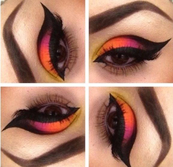 Hawaiian Sunset makeup inspired