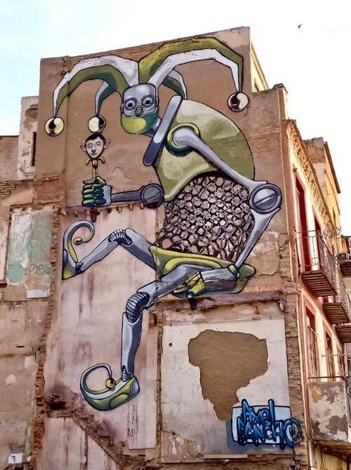 Best Mural De Phlegm Y Pixel Pancho Images On Pinterest Urban - Awesome mechanical shark mural phlegm