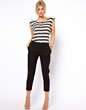 Crop Linen Trousers i wonder if I could rock this look