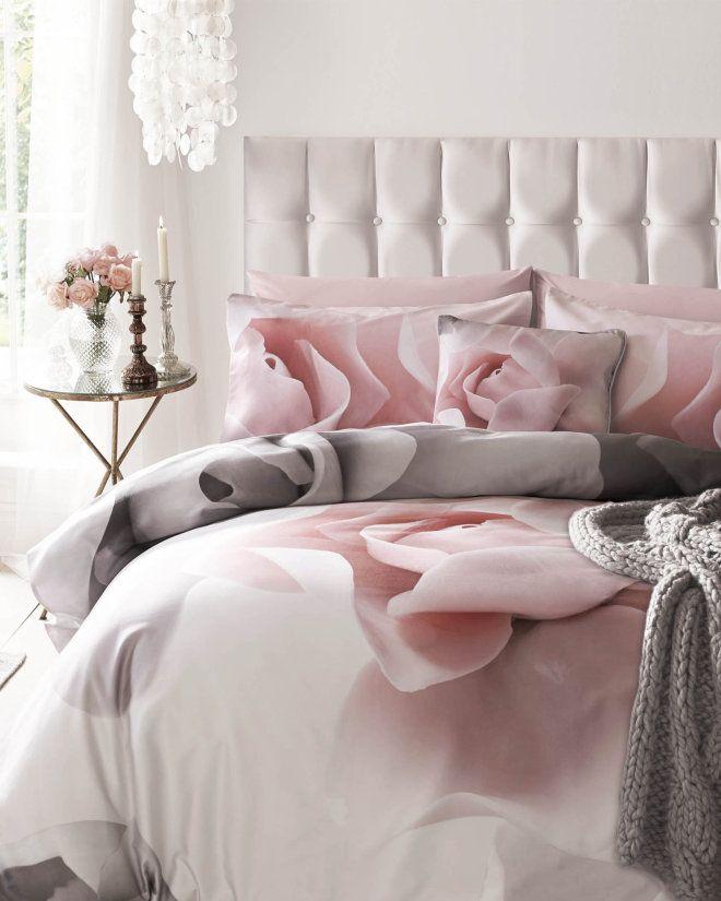 Porcelain Rose double duvet cover - Pink | Home & Gifts | Ted Baker UK