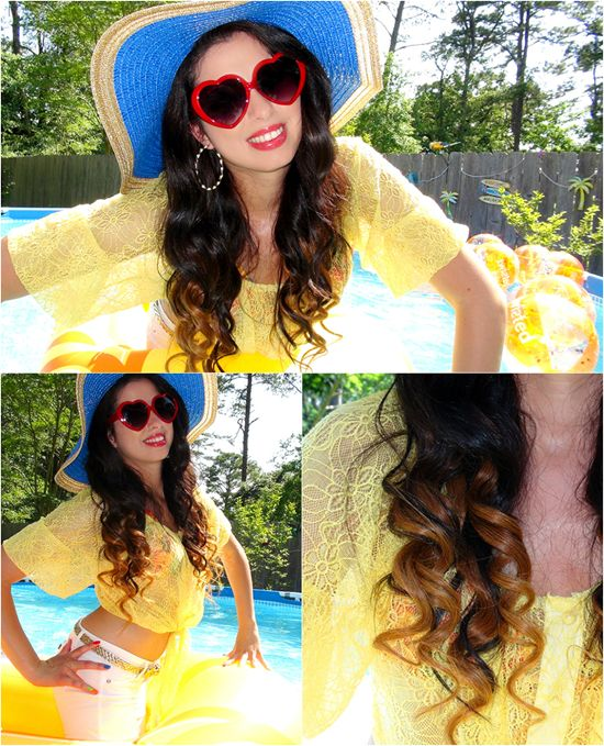 medium brown hairstyle with 20 inch hair extensions clip on