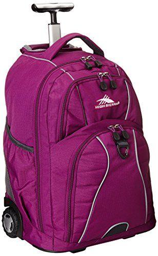 High Sierra Freewheel Wheeled Backpack Berry Blast