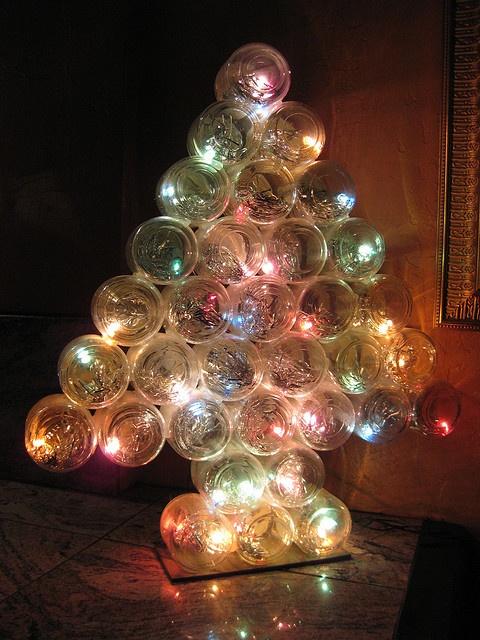 baby food jars Christmas tree