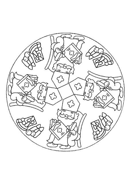 Saint Nicolas - Dessin à colorier - Mandala