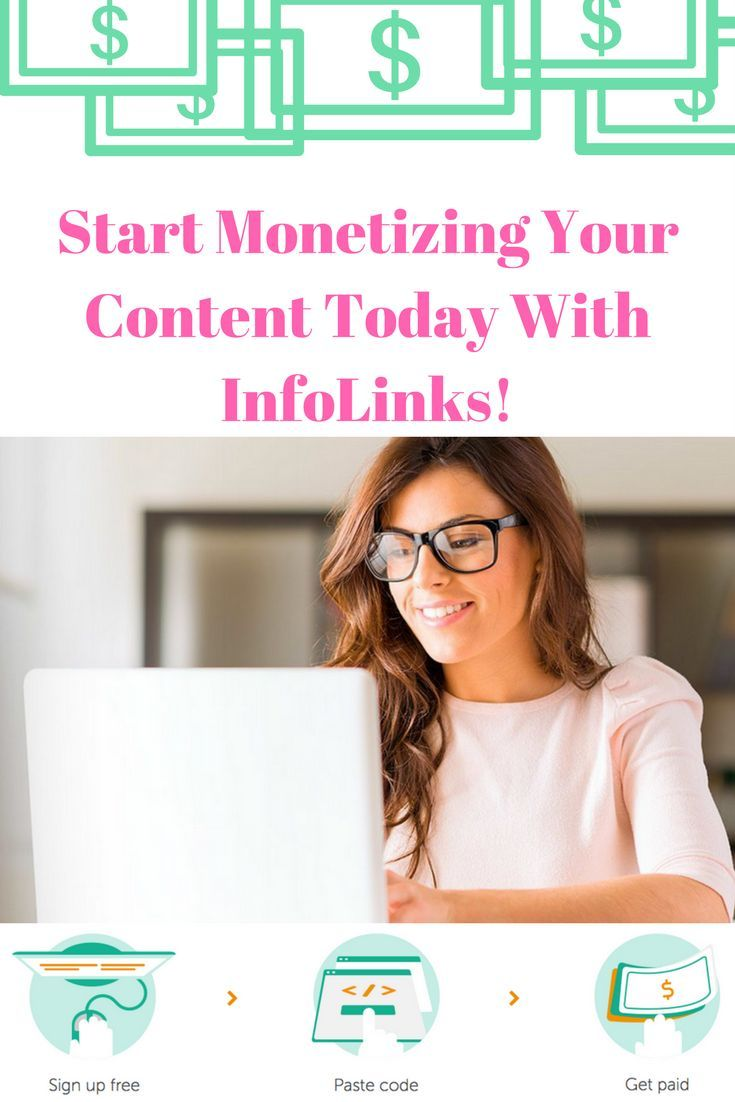 Monetize. Only easier. Create a simple revenue flow with InfoLinks! Sign up FREE!