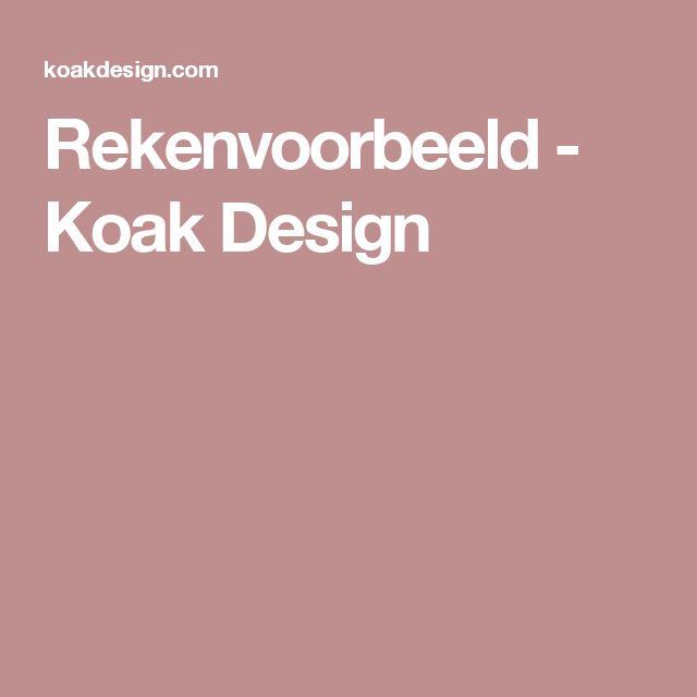 Rekenvoorbeeld - Koak Design