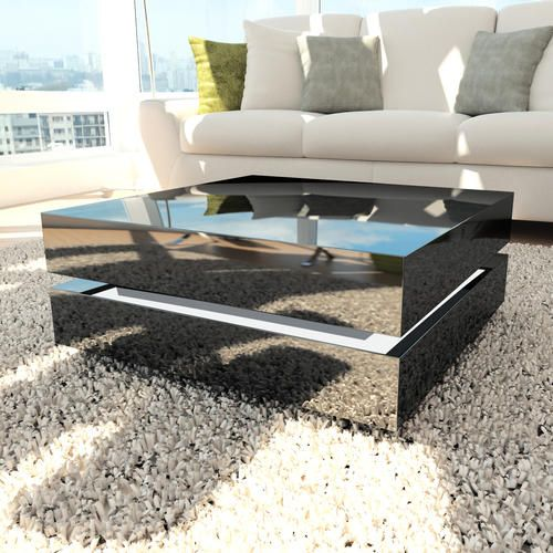 Verona Extendable High Gloss Coffee Table In White 21025: Buy Tiffany Black High Gloss Cubic LED Coffee Table From