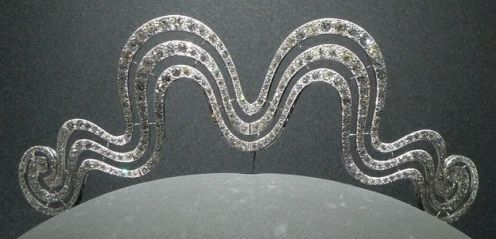 """Cartier tiara. I have also heard of this tiara as being dubbed the Cartier """"Roller coaster"""" tiara. the up and down design was likened to that of a roller coaster ride."""