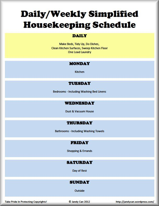 10+ images about Cleaning schedules on Pinterest   Cleaning charts ...