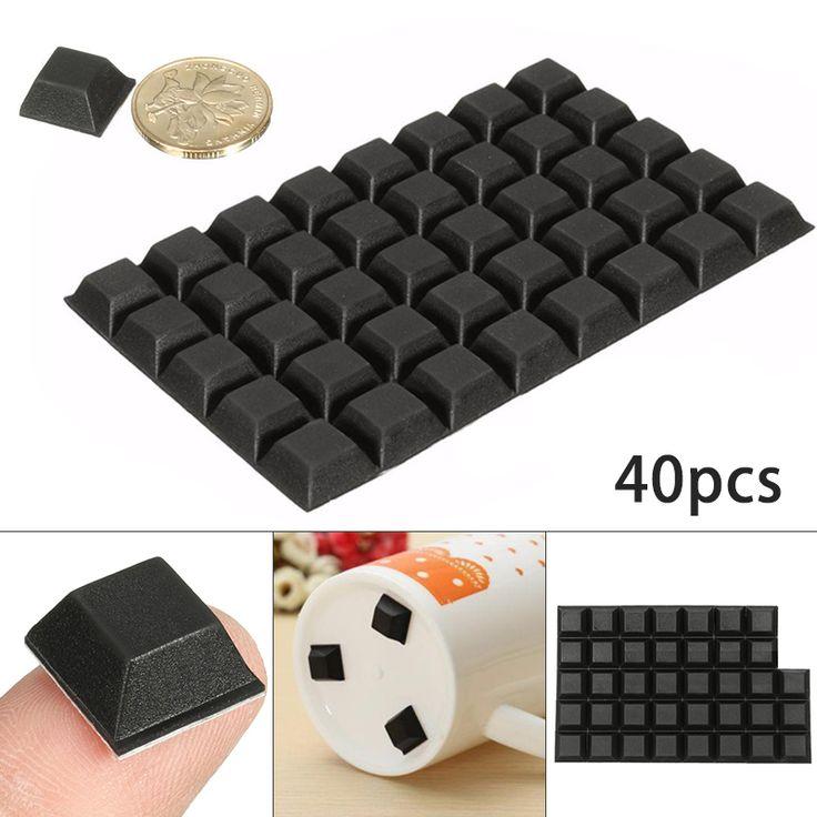 40 x poliuretano amortecedor de borracha autoadesiva parar pés porta Buffer Pads