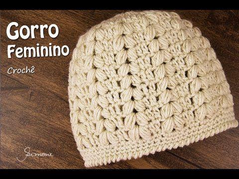 Gorro Feminino de Crochê | Passo a passo | Professora Simone