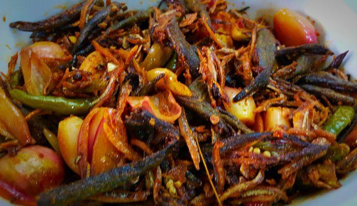 Okra moju instead of famous Sri Lankan eggplant moju.. Must try