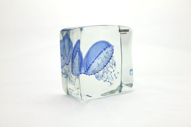 Glass Element with One Medusa (Light Blue) H115 x W115 x D60 mm