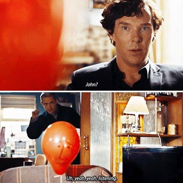 "I want a John balloon. Sherlock S04 E01 ""The Six Thatchers"". Season 4."