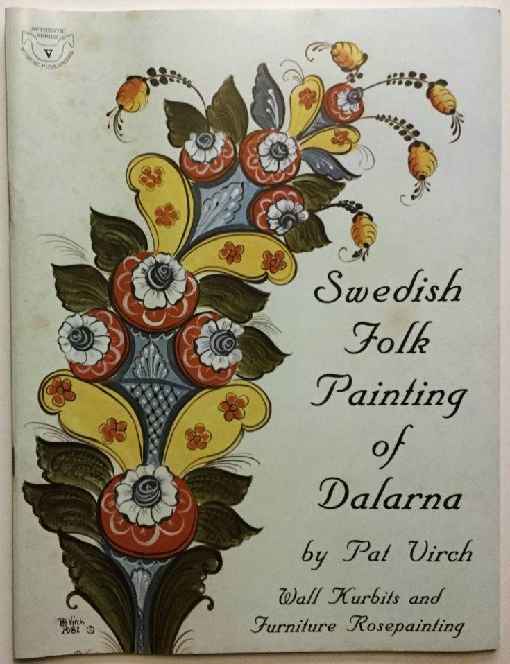 ■ARTBOOK_OUTLET■ E2-013 ★ 貴重 ダーラナ地方のスウェーデン フォークアート ペインティング Pat Virch トール デザイン 図案_画像1