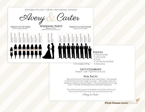 140 best wedding ceremony images on pinterest wedding for Avery wedding program templates