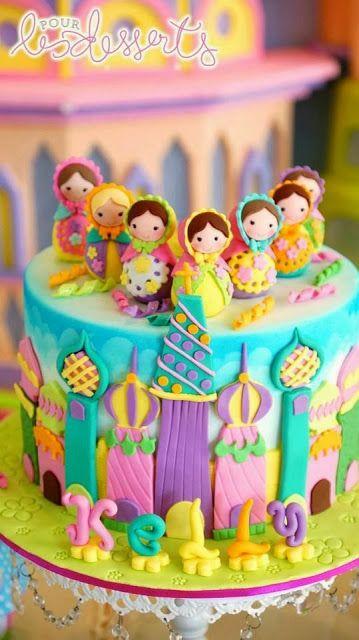 Party Inspirations: Matryoshka Birthday by Cupcakes Moments- The cake