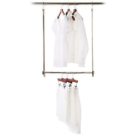 Buy neatfreak closetMAX MAXbar Extendable Wardrobe Hanging Bar Online at johnlewis.com